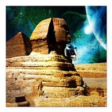 "2-Sphinx78 Square Car Magnet 3"" x 3"""