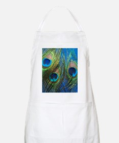 blue peacock feathers Apron
