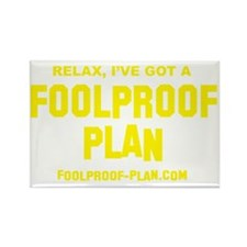 3-foolproof_t-shirt_yellow Rectangle Magnet