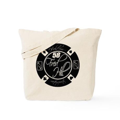 10x10_apparel HM FredHill 58 Black Logo Tote Bag
