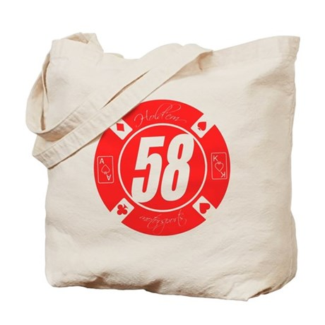10x10_apparel HM Red 58 Logo Tote Bag