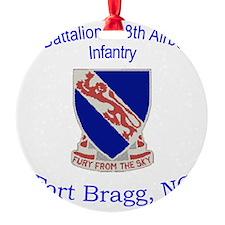 1st Bn 508th ABN Round Ornament