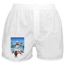 Little Timothys LAST Snowman Boxer Shorts