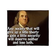 Ben Franklin Quote Throw Blanket