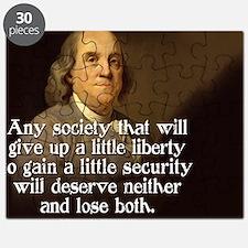 Ben Franklin Quote Puzzle