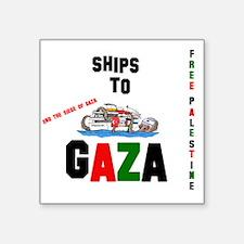 """shipsgaza Square Sticker 3"""" x 3"""""""