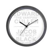 edward-vs-jacob_silver_ds Wall Clock