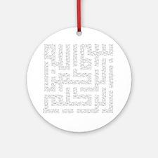 bismillah_fr_bot_10x10 Round Ornament