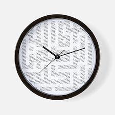 bismillah_fr_bot_10x10 Wall Clock