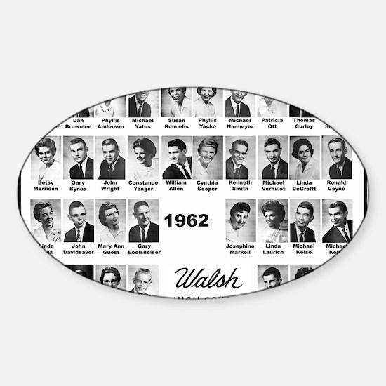 WALSH62 Class-Mousepad Sticker (Oval)