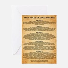 Boyes Largest Rules Poster Greeting Card