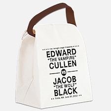 edward-vs-jacob_black Canvas Lunch Bag