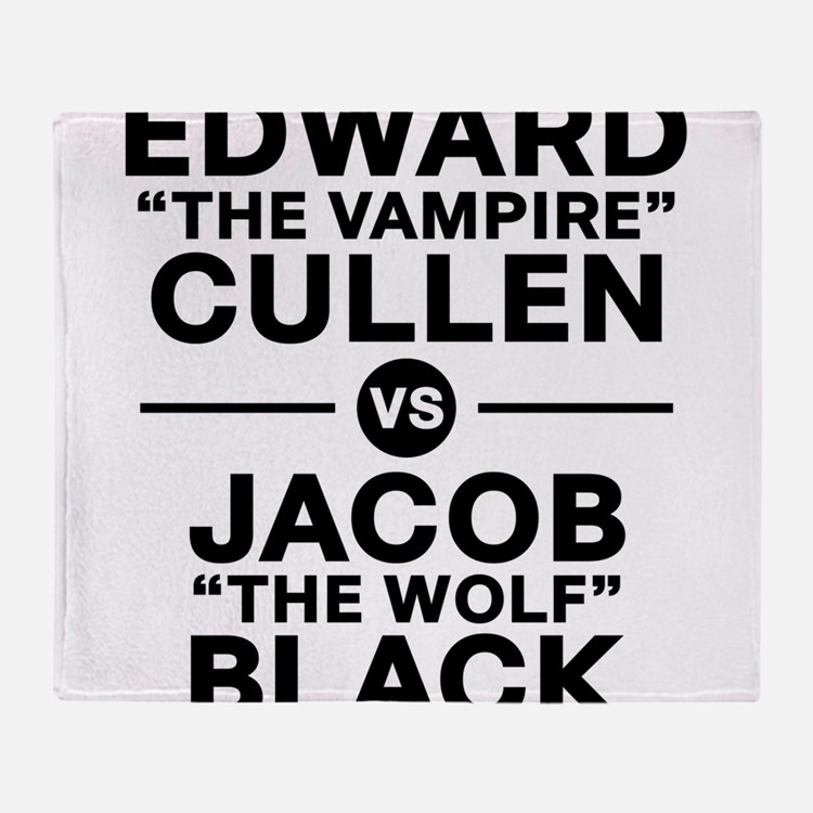 edward-vs-jacob_black Throw Blanket