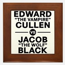 edward-vs-jacob_black Framed Tile