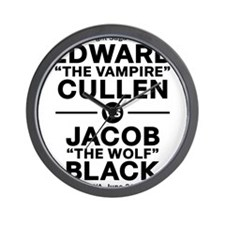 edward-vs-jacob_black Wall Clock
