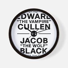 edward-vs-jacob_black Wall Clock