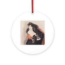 gk_womanSketch1 Round Ornament
