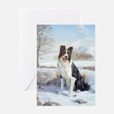 Funny Border collie christmas Greeting Cards (Pk of 20)