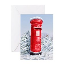 Funny Red post box Greeting Card