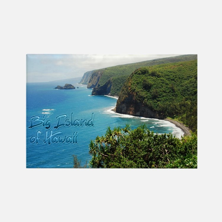 Big Island Hawaii Sticker Rectangle Magnet