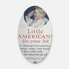 wwI3 Oval Car Magnet