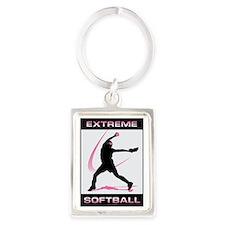 Softball 39 Portrait Keychain