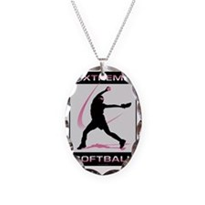 Softball 39 Necklace Oval Charm