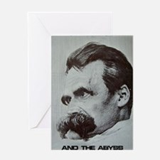 Nietzche - The Abyss Greeting Card
