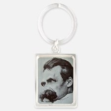 Nietzche - The Abyss Portrait Keychain