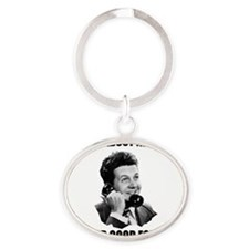 How_About_Never(W) Oval Keychain