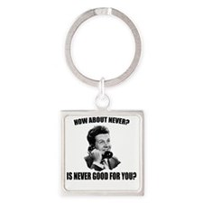 How_About_Never(W) Square Keychain