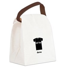 lost tee black t-shirt copy Canvas Lunch Bag