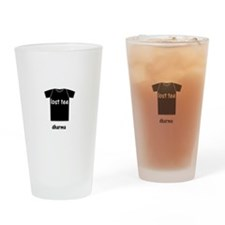 lost tee black t-shirt copy Drinking Glass