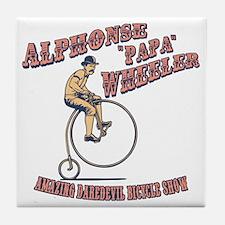 antique-wheelie-show-T Tile Coaster