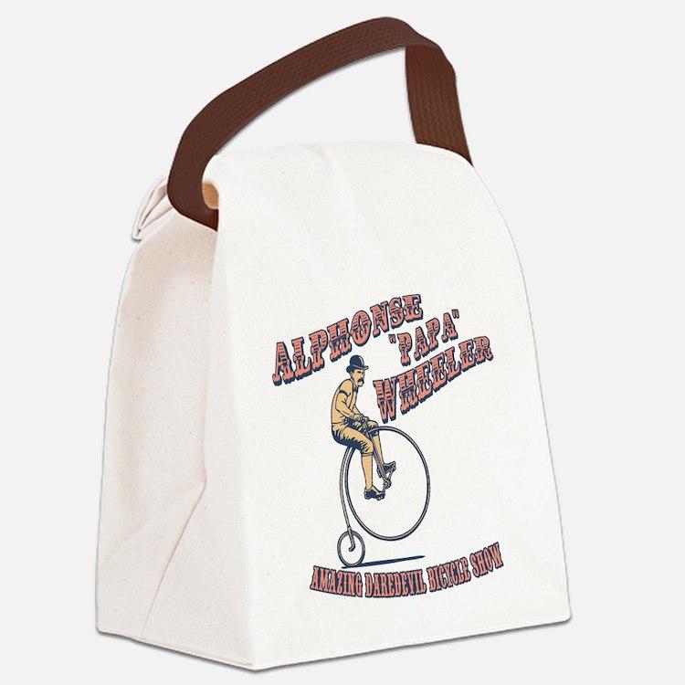 antique-wheelie-show-T Canvas Lunch Bag