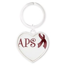Support APS Awareness Heart Keychain