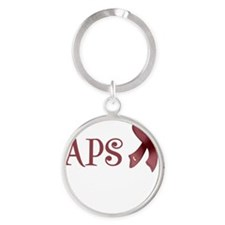 Support APS Awareness Round Keychain