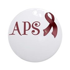 Support APS Awareness Round Ornament