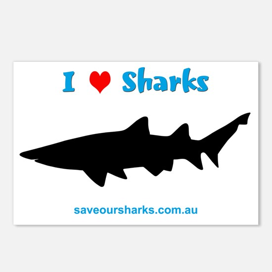 Ilovesharks Postcards (Package of 8)