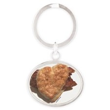 cp_baconbiscuit_base Oval Keychain