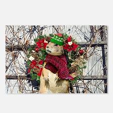 Christmas Prairie dog Postcards (Package of 8)