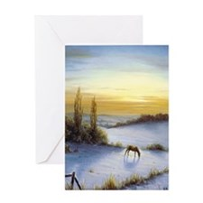 Funny Horse with foal Greeting Card