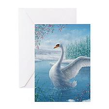 Cute Mute swan Greeting Card