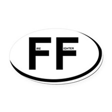 ff fireghter oval 1 Oval Car Magnet