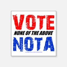 "votenota Square Sticker 3"" x 3"""