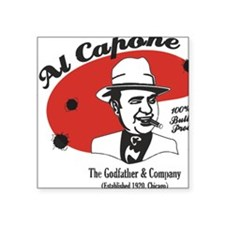 """Big Al Capone Square Sticker 3"""" x 3"""""""