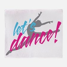 lets-dance-with-dancer3 Throw Blanket