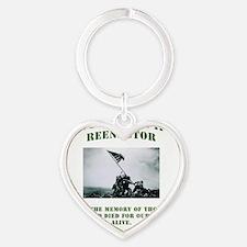 WWII GI tshirt Heart Keychain