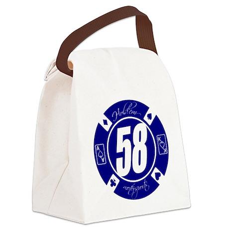 10x10_apparel HM Blue 58 Logo Canvas Lunch Bag