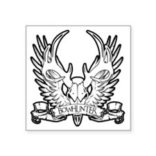 "buckwingsWhite Square Sticker 3"" x 3"""